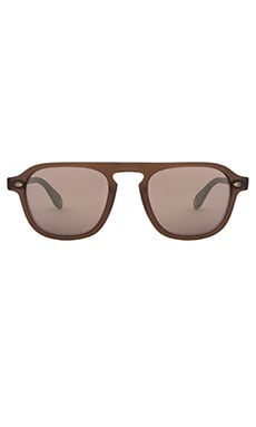 Garrett Leight Grayson in Matte Espresso & Matte Gold Mirror
