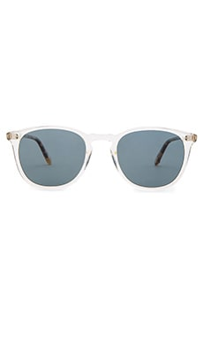 Garrett Leight Kinneyized in Champagne & Champagne Dark Tortoise Fade & Blue Smoke Polar