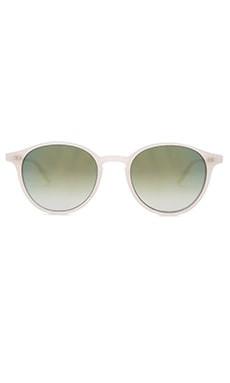 Garrett Leight Pacific in Ivory & Green Layered Mirror