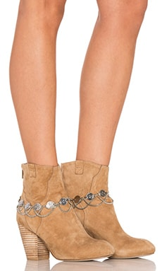Grace Bijoux Coin Boot Cuffs in Silver