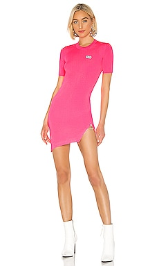 Fluorescent Asymmetrical Zip Dress GCDS $155