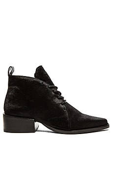 GREY CITY Wyatt Cow Hair Bootie in Black Pony