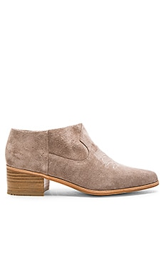 Wit Bootie in Taupe