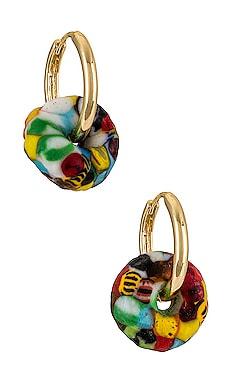 AFRICAN GLASS 귀걸이 GOLDMINE $29 (최종세일)