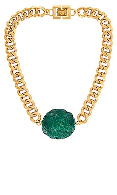 Chunky Green Agate Necklace GOLDMINE $210