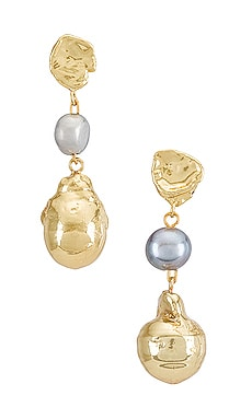 Baroque Pearl Earrings GOLDMINE $152