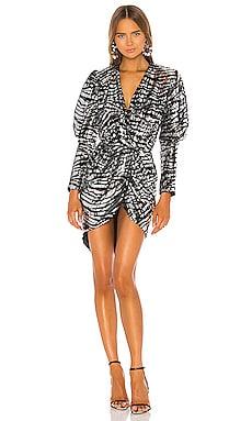 Zebra Stripe Dress GIUSEPPE DI MORABITO $700