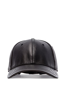 Gents Co. Luxe Leather Cap in Black