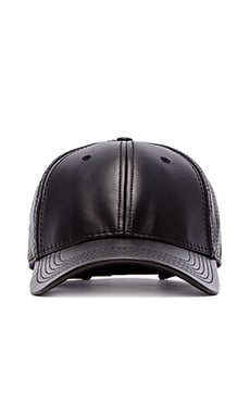 Gents Co. Luxe Suede Perforated Back Cap in Black
