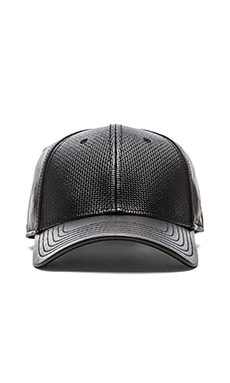 Gents Co. Luxe Carbon Leather Hat in Black