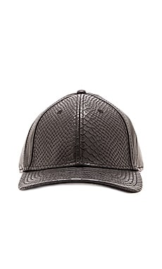 Gents Co. Luxe Embossed Viper Leather Hat in Black