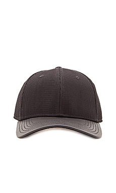 Gents Co. Luxe Todd Mesh Leather Brim Hat in Black