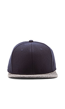 Gents Co. Luxe Mack Wool 2 Tone Hat in Navy Grey