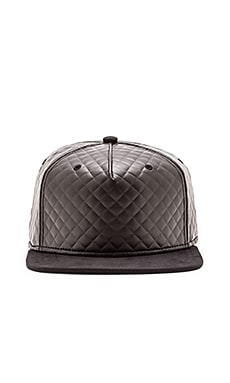 Gents Co. Luxe Night Rider Suede and Leather Hat in Black