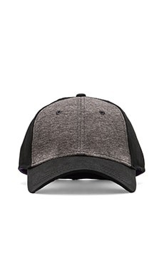 Jersey Knit Cap in Black/Grey