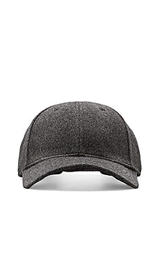 Gents Co. Luxe Cashmere Blend Cap with Rabbit Fur in Grey