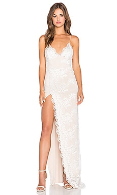 Gemeli Power Motel Jay Gown in Ivory & Nude