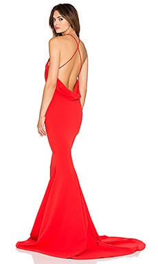 Gemeli Power Barthelemy Gown in Cherry