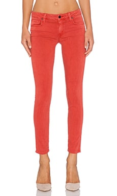 Genetic Denim Daphne Mid Rise Crop in Faded Red