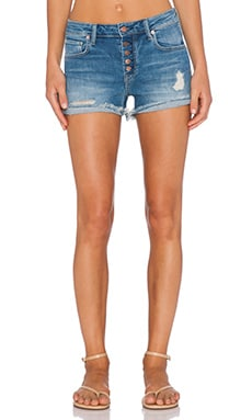 Genetic Denim Lara High Rise Butterfly Short in Nirvana