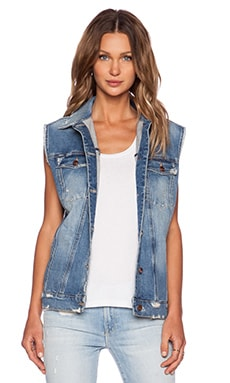 Genetic Denim Indie Oversized Vest in Nirvana