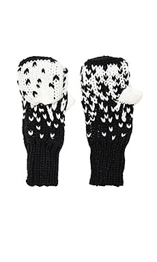 Carly Glove in White & Black