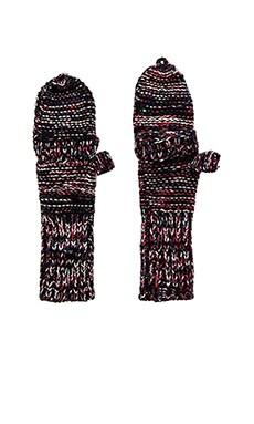 Genie by Eugenia Kim Stef Gloves in Black & Red Multi