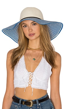 Genie by Eugenia Kim Cecily Hat in Ivory & Cobalt
