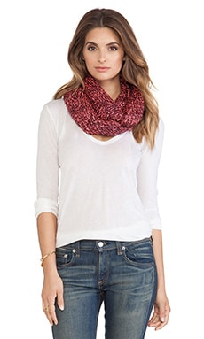 Genie by Eugenia Kim Lane Scarf in Burgundy & Neon Pink