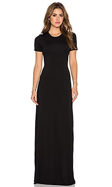 GETTINGBACKTOSQUAREONE T Shirt Maxi Dress in Black