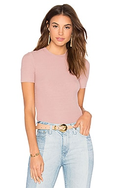 Short Sleeve Crop Sweater en Mauve