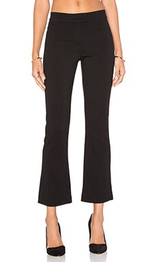 GETTINGBACKTOSQUAREONE Crop Flare Pant in Black