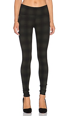 GETTINGBACKTOSQUAREONE Iconic Legging in Olive & Black Plaid