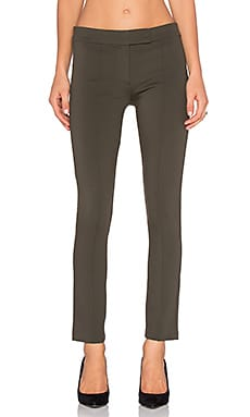 Pin Tuck Pant in Olive Green