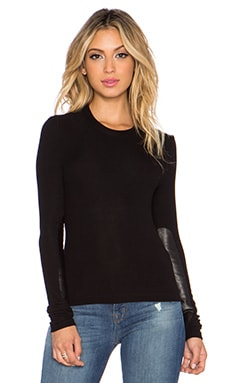 GETTINGBACKTOSQUAREONE Commando Top in Black