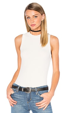 GETTINGBACKTOSQUAREONE The Sleeveless Bodysuit in Vanilla Ice
