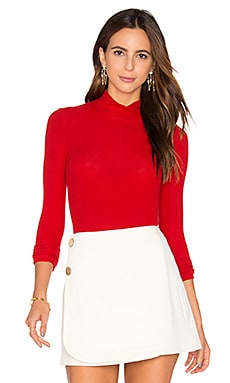 Turtleneck Bodysuit in Red