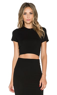 GETTINGBACKTOSQUAREONE Crop Tee in Black