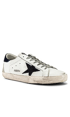 Superstar Leather Upper Suede Star Kuroki Heel Golden Goose $495