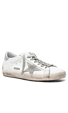 Leather Superstar Low Sneakers Golden Goose $495