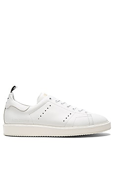 Starter Sneakers in White & White Sole