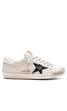 Golden Goose Superstar Sneakers in Grey Cord Gum