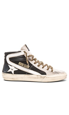 Golden Goose Slide Sneakers in Black Nabuk