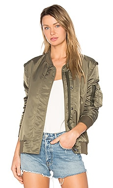 Sunset Bomber Jacket in Green