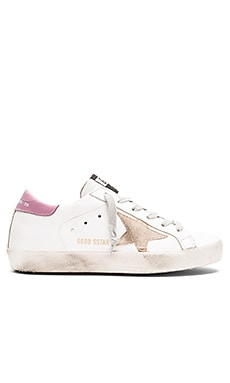 Golden Goose Superstar Sneaker in White & Dark Lilac