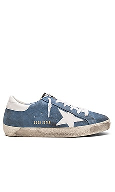Golden Goose Superstar Sneaker in Ciel Suede & White Star