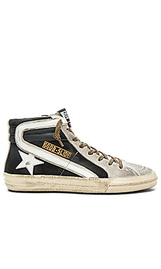 Golden Goose Slide Hi Top Sneaker in Black Nabuk
