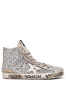 Golden Goose Francy Hi Top Sneaker in Silver Moon