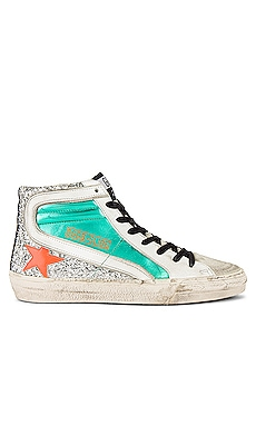 Slide Laminated Sneaker Golden Goose $560