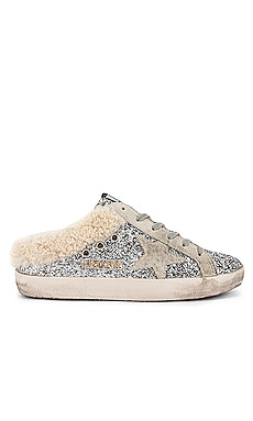 Sabot Glitter Shearling Slip On Golden Goose $605